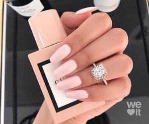 nails, gucci, and pink image