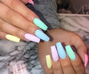 aesthetic, nails, and pastel image