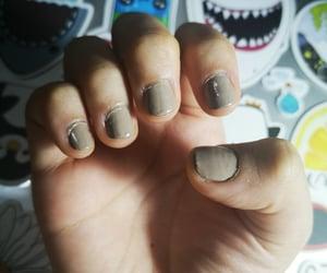 art, gray, and nails image