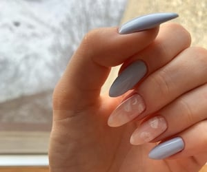blue, pastel, and nails image