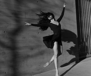 black and white, dance, and ballet image
