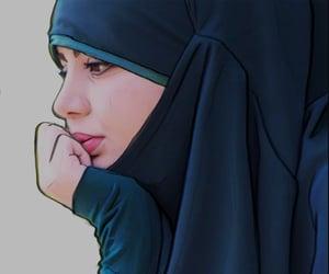 art, islamic art, and jilbab image