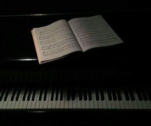 black, dark, and notes image