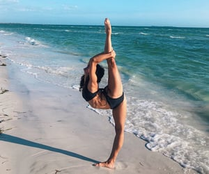 beach, flexible, and sand image