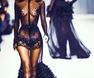 black dress, mini dress, and sexy black dress image