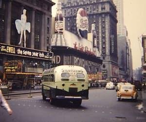 new york, usa, and retro image