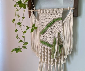etsy, bright green, and woven wall art image