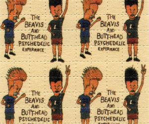 lsd, beavis and butthead, and acid image
