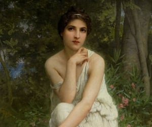 art, woman, and flute image