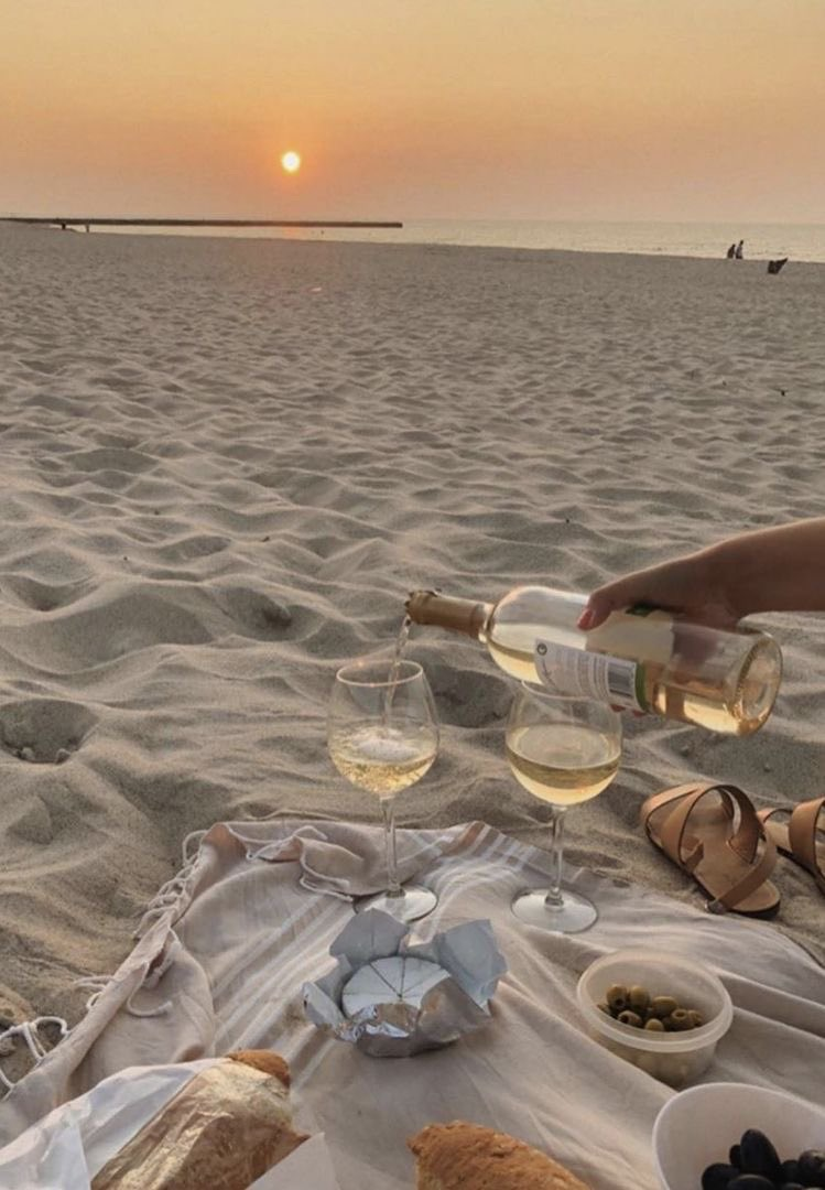 beach and wine image