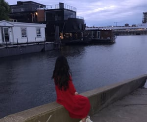 canada, girl, and lake image