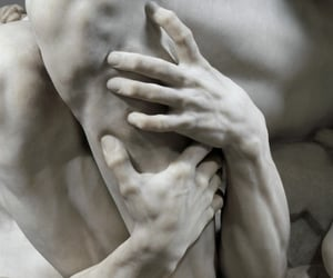 art, sculpture, and hands image