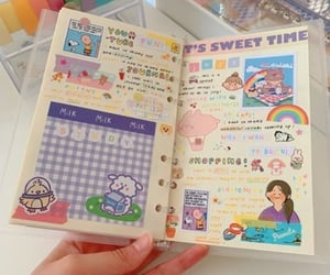 aesthetic, journal, and pink image