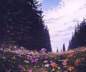 облака, цветы, and красиво image