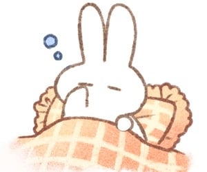 bunny, sleepy, and cute image