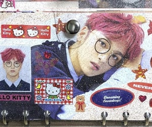 hello kitty, stationary, and thence image