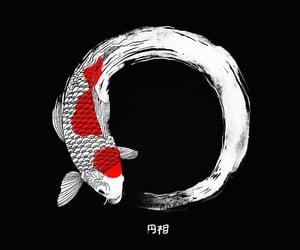 black, fish, and lock screen image