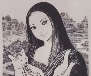 art, cat, and japanese image