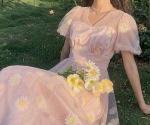 aesthetic, girl, and dress image