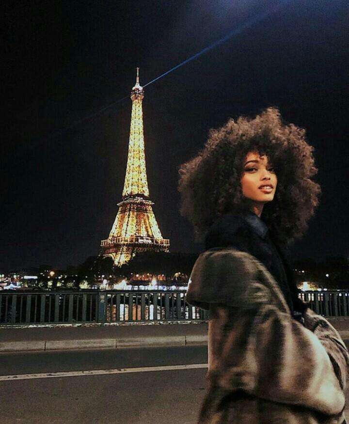 girl, paris, and night image