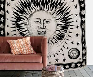 etsy, sun and moon, and indian tapestries image