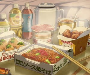 anime, japanese food, and love image