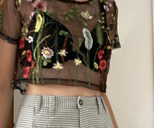 aesthetic, fashion, and floral image