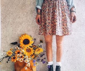 boots, dr martens, and flower power image