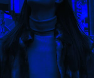 aesthetic, blue, and long hair men image