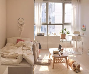 bedroom, decor, and minimalist image