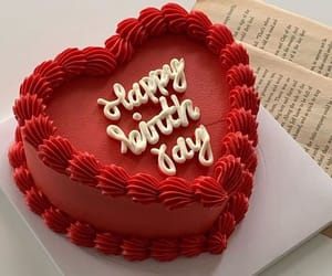 cake, red, and birthday image