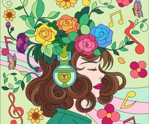beautiful, drawings, and headphones image