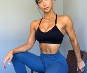abs, legging, and black image