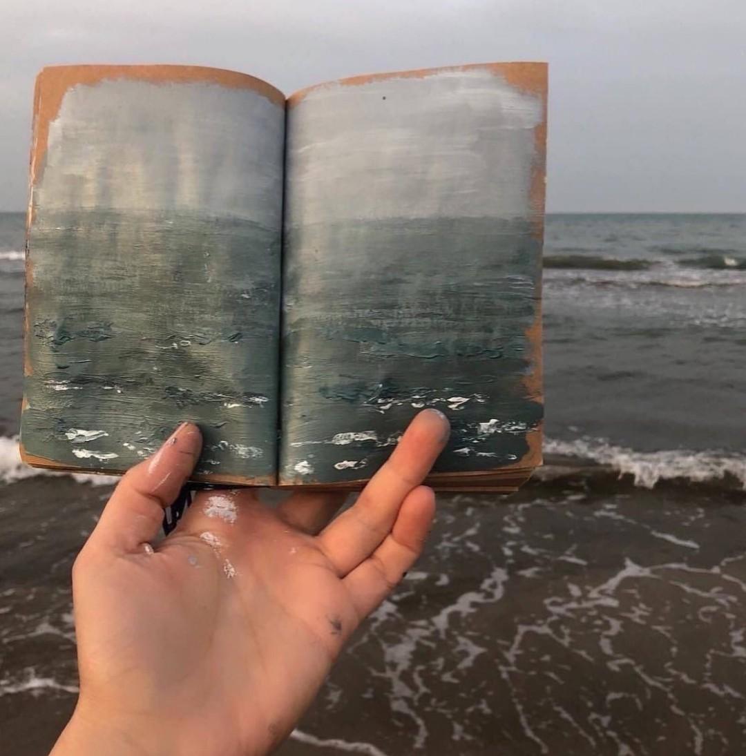 art, grey, and hand image