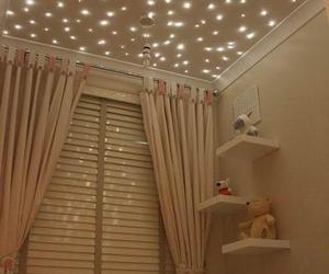 room, light, and stars image