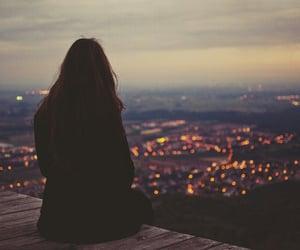 alone, beautiful, and girl image