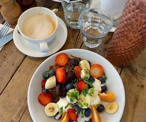 breakfast, coffee, and yoghurt image