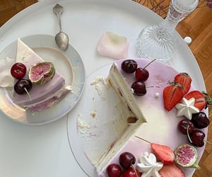 berries, blueberries, and cake image