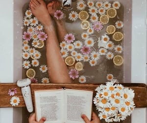 aesthetic, bath, and book image