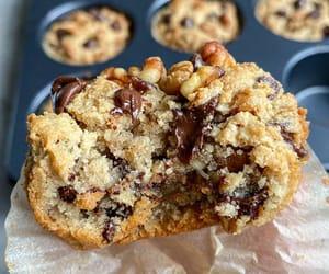 cake, chocolate chip, and cupcake image
