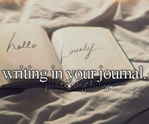 journal and justgirlythings image