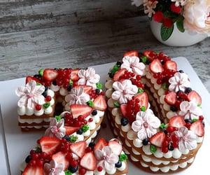 cake, strawberry, and 20 image
