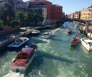boat, venice, and italy image