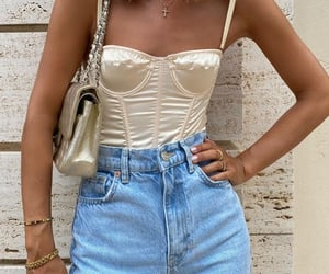 fashion, denim, and outfit image