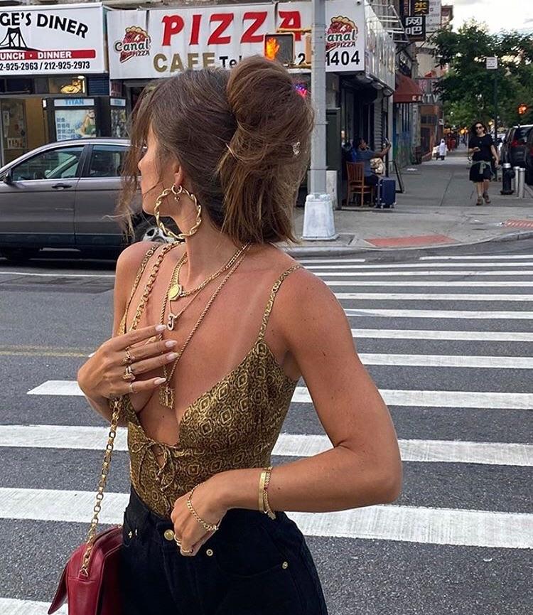 gold jewelry, fashionista fashionable, and fashion style mode image