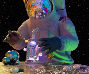 aesthetic, astronaut, and comment image