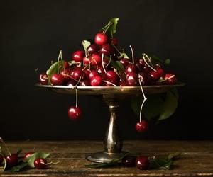 art, italia, and cherries image