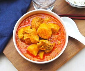 potato, asian food, and chicken curry image