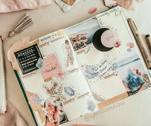 journal, crystal, and motivation image