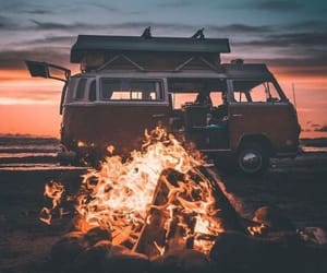sunset, van, and summer image
